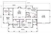 Craftsman Style House Plan - 4 Beds 3.5 Baths 3735 Sq/Ft Plan #419-143 Floor Plan - Main Floor Plan