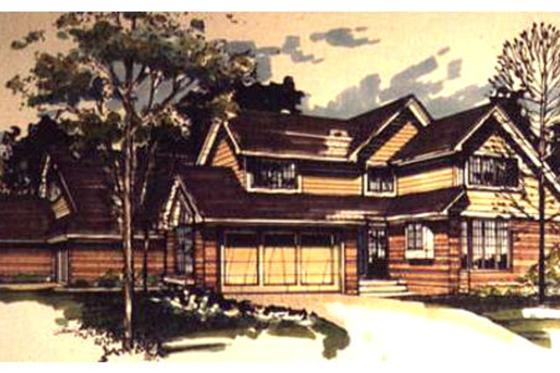 Craftsman Style House Plan - 1 Beds 2.5 Baths 4470 Sq/Ft Plan #320-334 Exterior - Front Elevation
