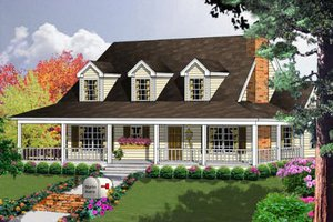 House Plan Design - Country Exterior - Front Elevation Plan #40-103