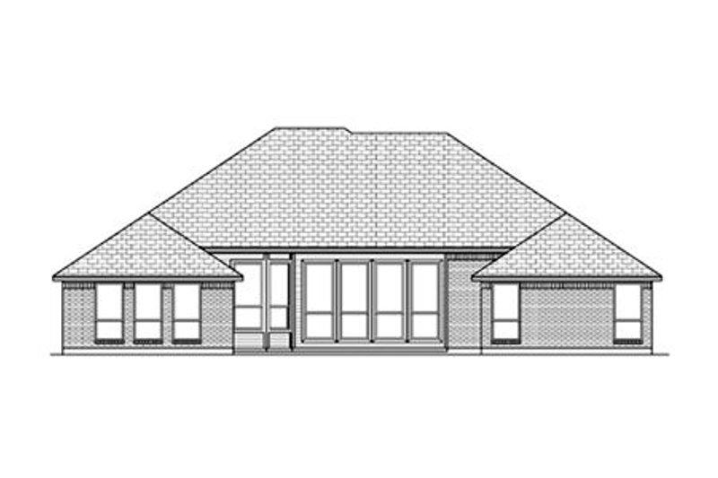 European Exterior - Rear Elevation Plan #84-483 - Houseplans.com