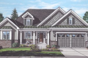 Architectural House Design - Traditional Exterior - Front Elevation Plan #46-894