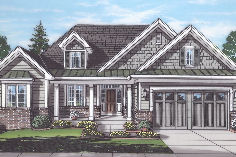 Traditional Exterior - Front Elevation Plan #46-894