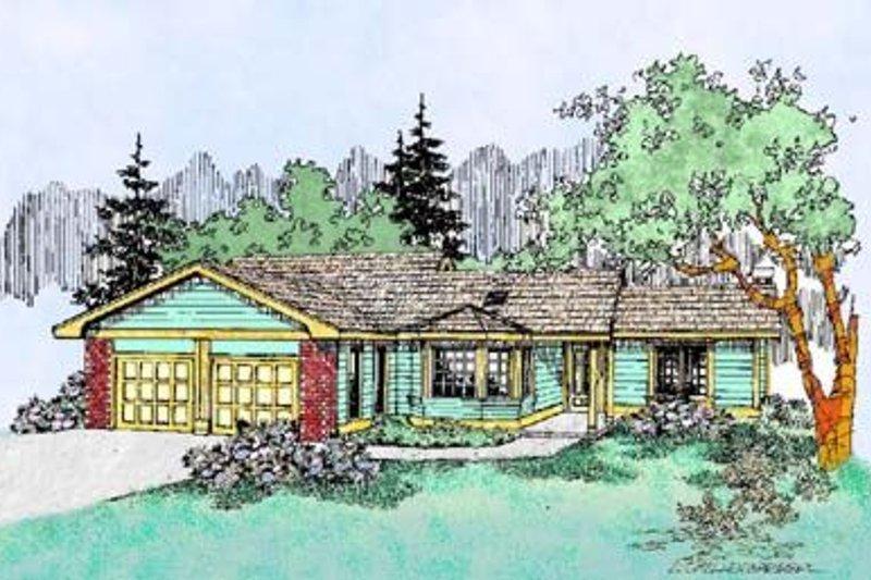 Ranch Exterior - Front Elevation Plan #60-404 - Houseplans.com