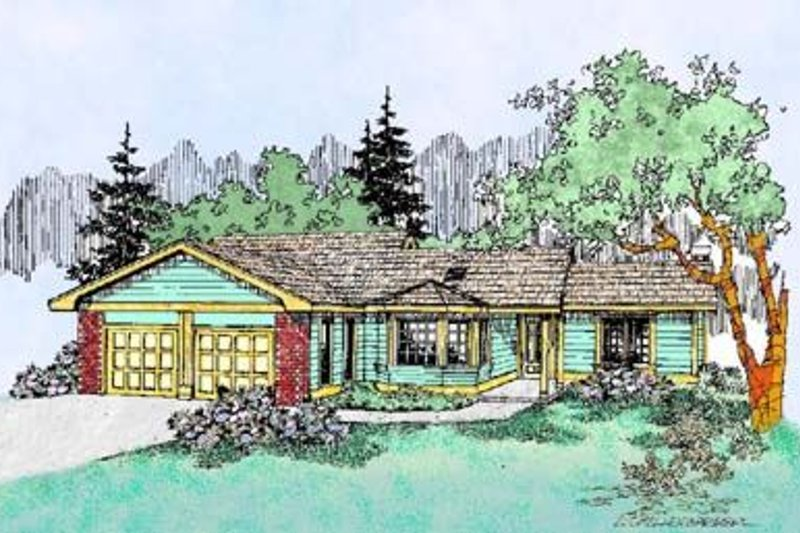 Ranch Exterior - Front Elevation Plan #60-404