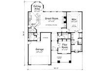 Bungalow Floor Plan - Main Floor Plan Plan #20-1606