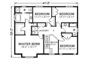 Farmhouse Style House Plan - 4 Beds 2.5 Baths 2492 Sq/Ft Plan #414-109 Floor Plan - Upper Floor