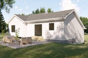Farmhouse Style House Plan - 3 Beds 2 Baths 1507 Sq/Ft Plan #455-218 Exterior - Rear Elevation
