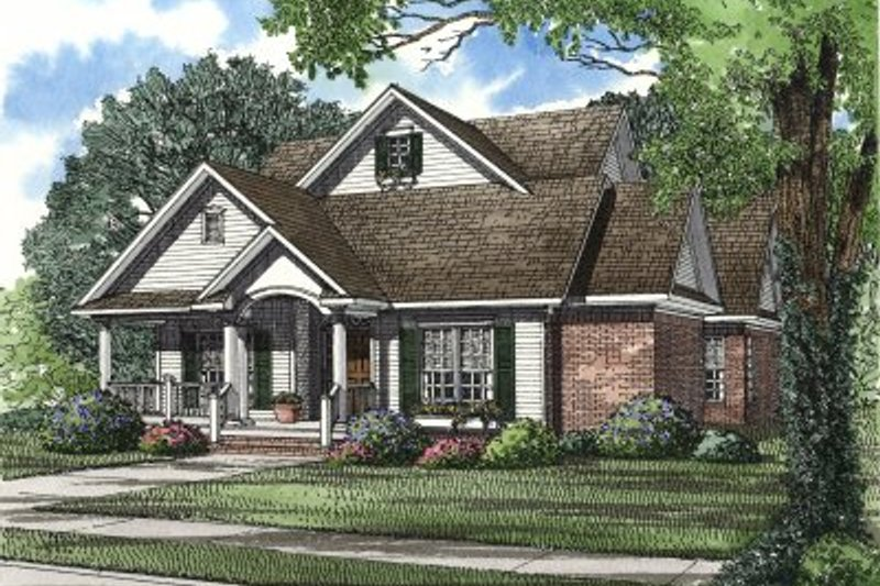 House Plan Design - Traditional Exterior - Front Elevation Plan #17-2003