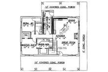 Country Floor Plan - Main Floor Plan Plan #117-275