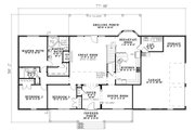 Country Style House Plan - 5 Beds 3 Baths 2747 Sq/Ft Plan #17-1161 Floor Plan - Main Floor Plan