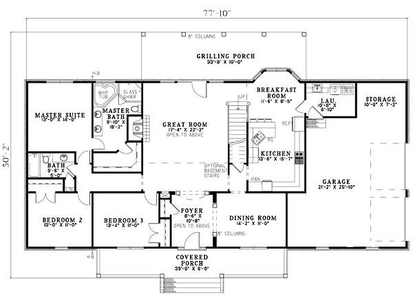 Country Floor Plan - Main Floor Plan Plan #17-1161