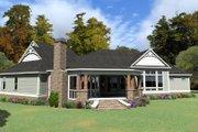 European Style House Plan - 3 Beds 3 Baths 3267 Sq/Ft Plan #63-408 Exterior - Rear Elevation