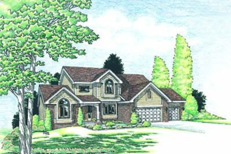 Traditional Exterior - Front Elevation Plan #20-823