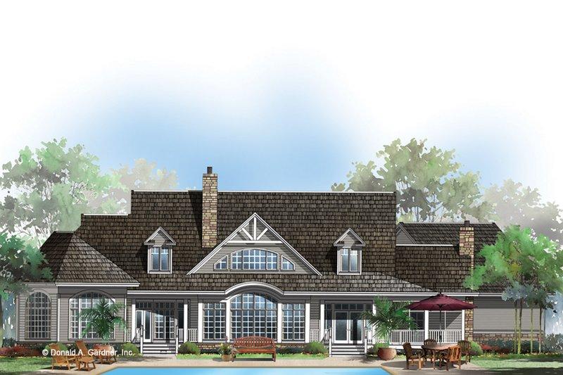 Ranch Exterior - Rear Elevation Plan #929-655 - Houseplans.com