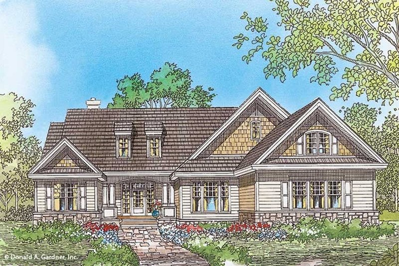 Home Plan - Country Exterior - Front Elevation Plan #929-49