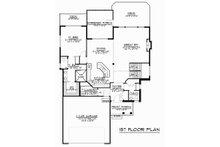 Craftsman Floor Plan - Main Floor Plan Plan #1064-14