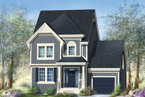 Country Exterior - Front Elevation Plan #25-4602