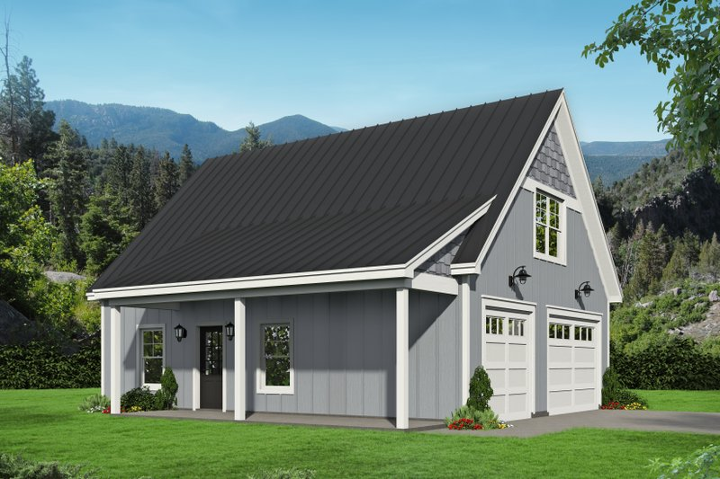Architectural House Design - Country Exterior - Front Elevation Plan #932-91