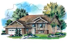 House Blueprint - Traditional Exterior - Front Elevation Plan #18-323
