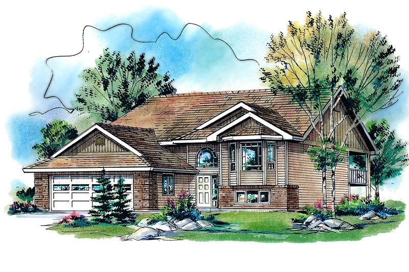 Traditional Exterior - Front Elevation Plan #18-323 - Houseplans.com