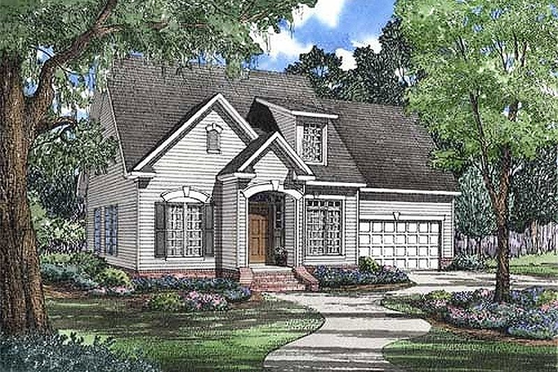 Traditional Style House Plan - 3 Beds 2.5 Baths 1684 Sq/Ft Plan #17-266
