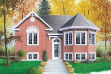 Home Plan - Colonial Exterior - Front Elevation Plan #23-309