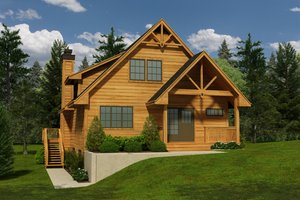 Cottage Exterior - Front Elevation Plan #118-118