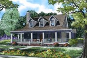 Farmhouse Style House Plan - 4 Beds 3 Baths 2039 Sq/Ft Plan #17-3420 Exterior - Front Elevation
