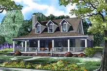 Home Plan - Farmhouse Exterior - Front Elevation Plan #17-3420