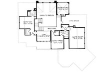 European Floor Plan - Upper Floor Plan Plan #413-119