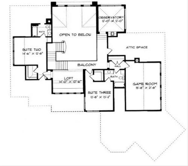 European Floor Plan - Upper Floor Plan Plan #413-119
