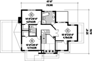 Traditional Style House Plan - 3 Beds 2 Baths 2130 Sq/Ft Plan #25-4716 Floor Plan - Upper Floor