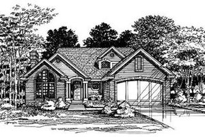 Traditional Exterior - Front Elevation Plan #50-168