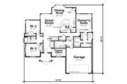 Traditional Style House Plan - 3 Beds 2.5 Baths 1925 Sq/Ft Plan #20-2458