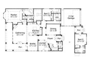 European Style House Plan - 5 Beds 4.5 Baths 4594 Sq/Ft Plan #411-708 Floor Plan - Main Floor