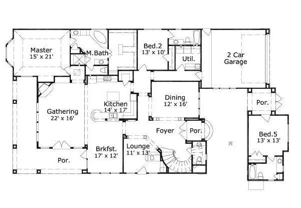 European Floor Plan - Main Floor Plan #411-708