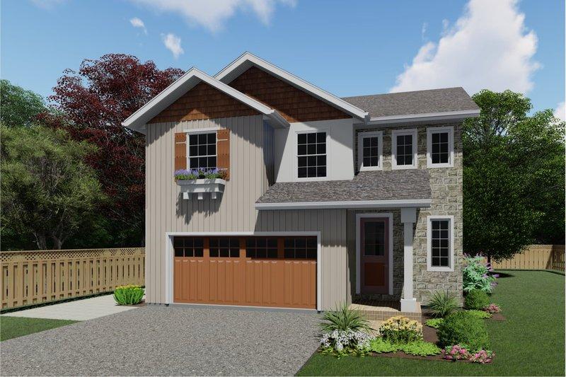 Dream House Plan - Farmhouse Exterior - Front Elevation Plan #126-213
