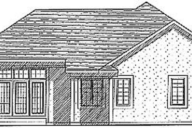 European Exterior - Rear Elevation Plan #70-159 - Houseplans.com