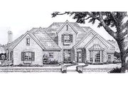 European Style House Plan - 4 Beds 3.5 Baths 3002 Sq/Ft Plan #310-901 Exterior - Front Elevation