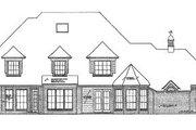 European Style House Plan - 4 Beds 3.5 Baths 4101 Sq/Ft Plan #310-512 Exterior - Rear Elevation
