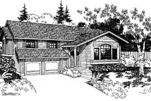 Architectural House Design - Traditional Exterior - Front Elevation Plan #60-136