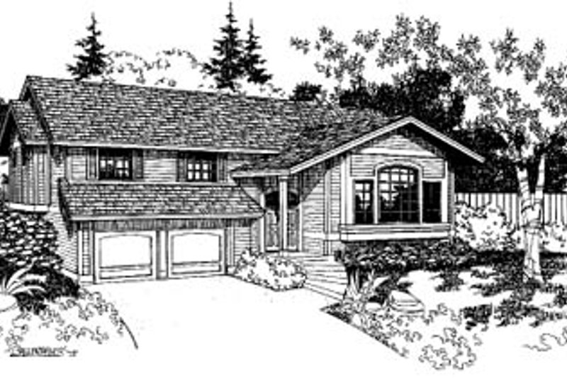 Traditional Exterior - Front Elevation Plan #60-136 - Houseplans.com