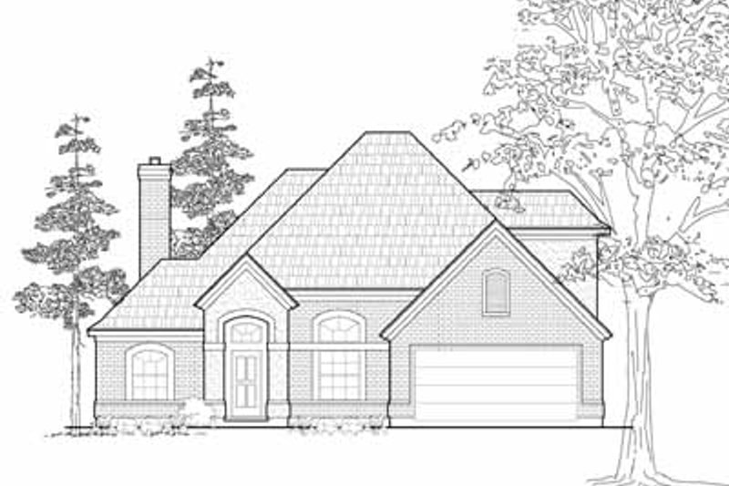 Traditional Exterior - Front Elevation Plan #61-214