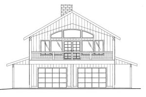 Cabin Exterior - Front Elevation Plan #117-792