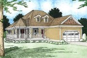 Country Style House Plan - 3 Beds 2 Baths 1506 Sq/Ft Plan #126-130 Exterior - Front Elevation