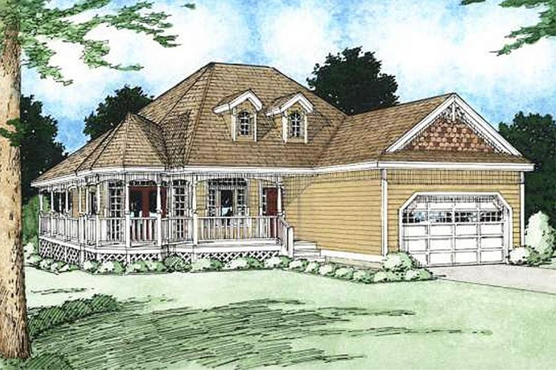 Country Exterior - Front Elevation Plan #126-130 - Houseplans.com