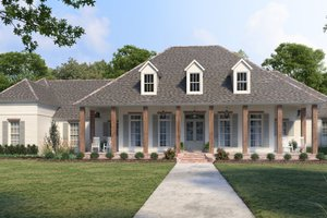 House Design - Southern Exterior - Front Elevation Plan #1074-38