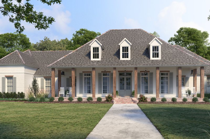 Home Plan - Southern Exterior - Front Elevation Plan #1074-38