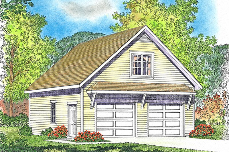 Country Exterior - Front Elevation Plan #22-577
