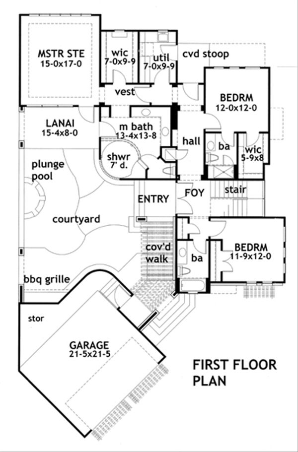 Modern Floor Plan - Main Floor Plan Plan #120-169